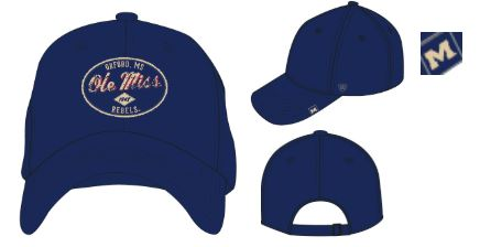 Tatter Navy Adjustable Hat Oval Patch