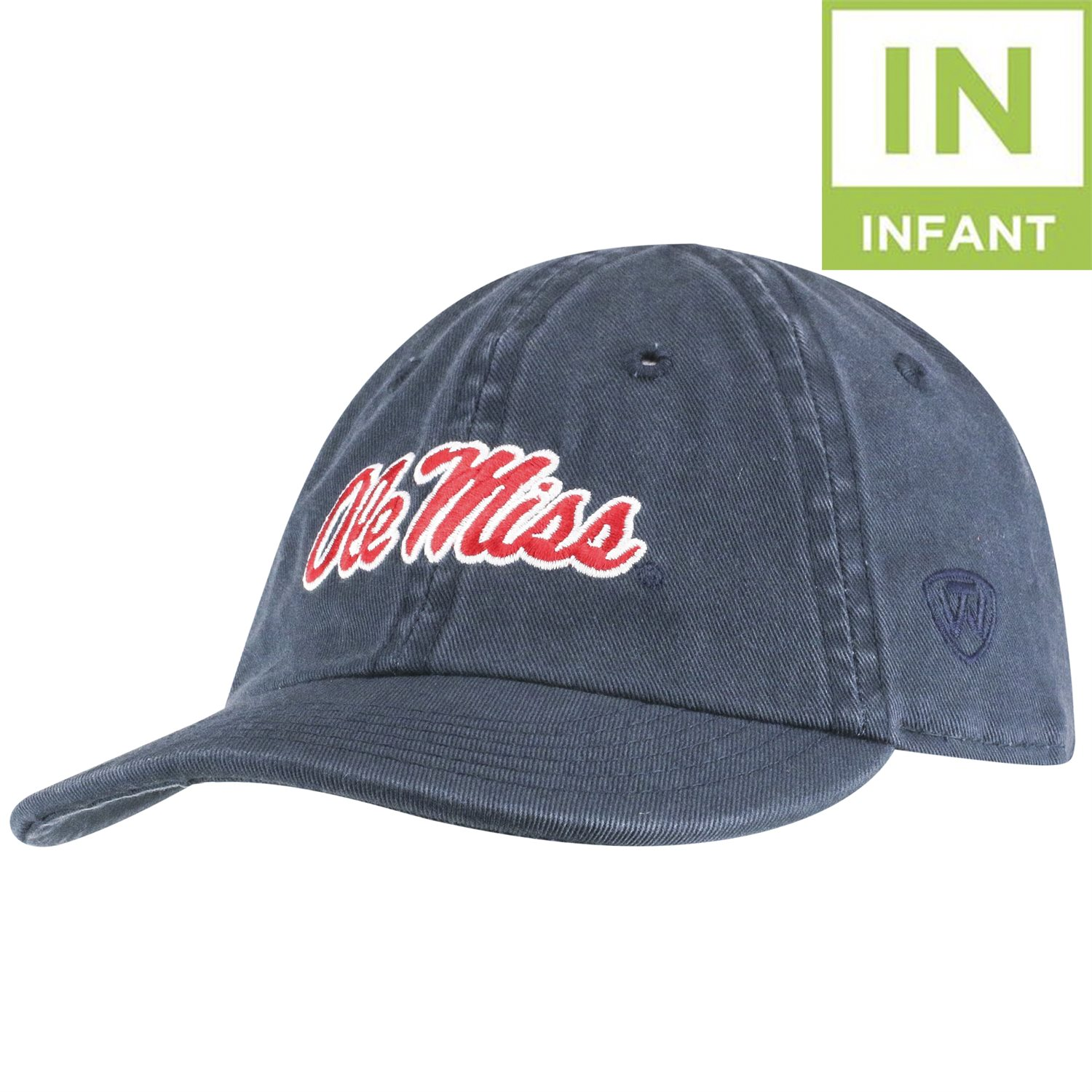 Mini Me Navy Script Infant Hat