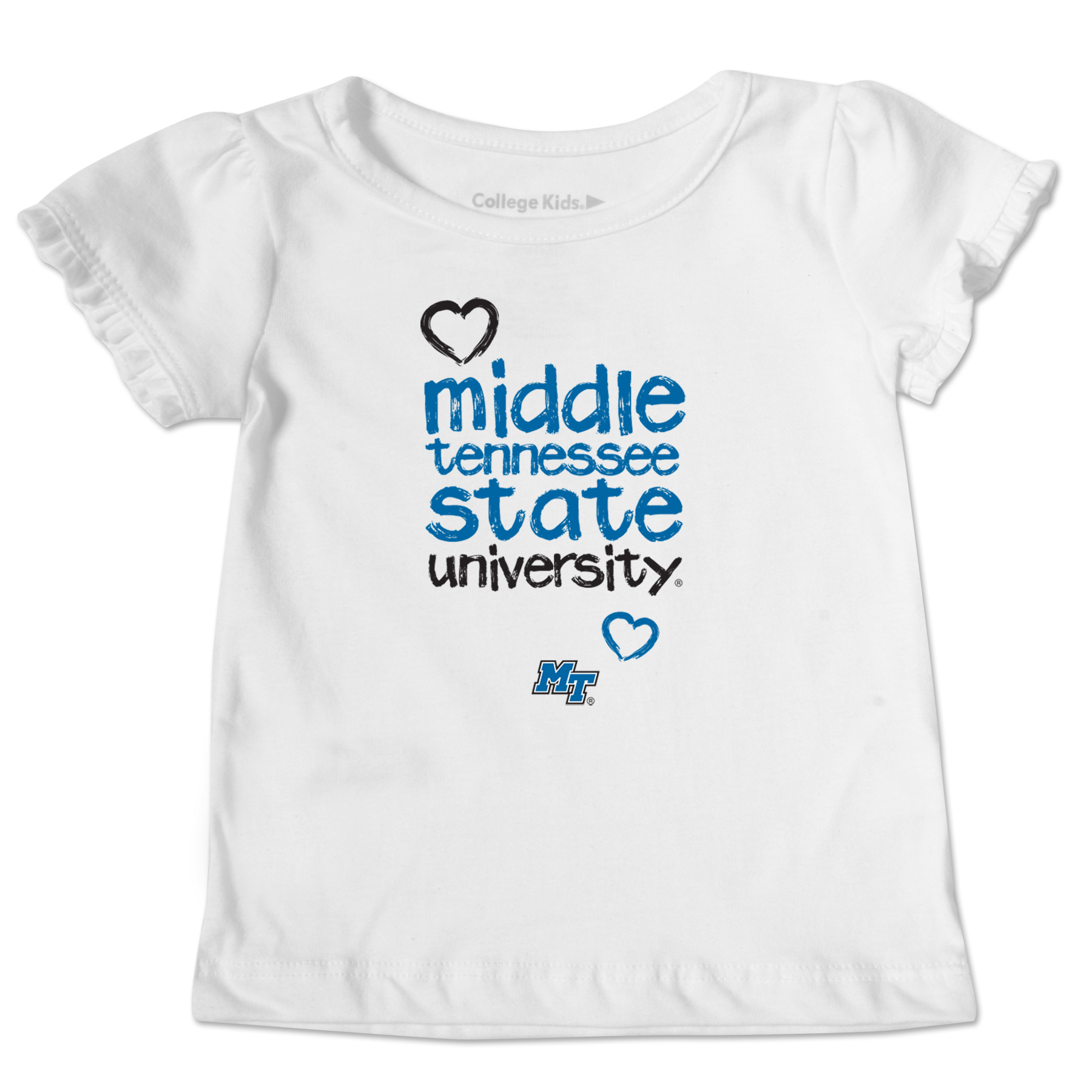 Middle Tennessee Toddler Ruffle tee