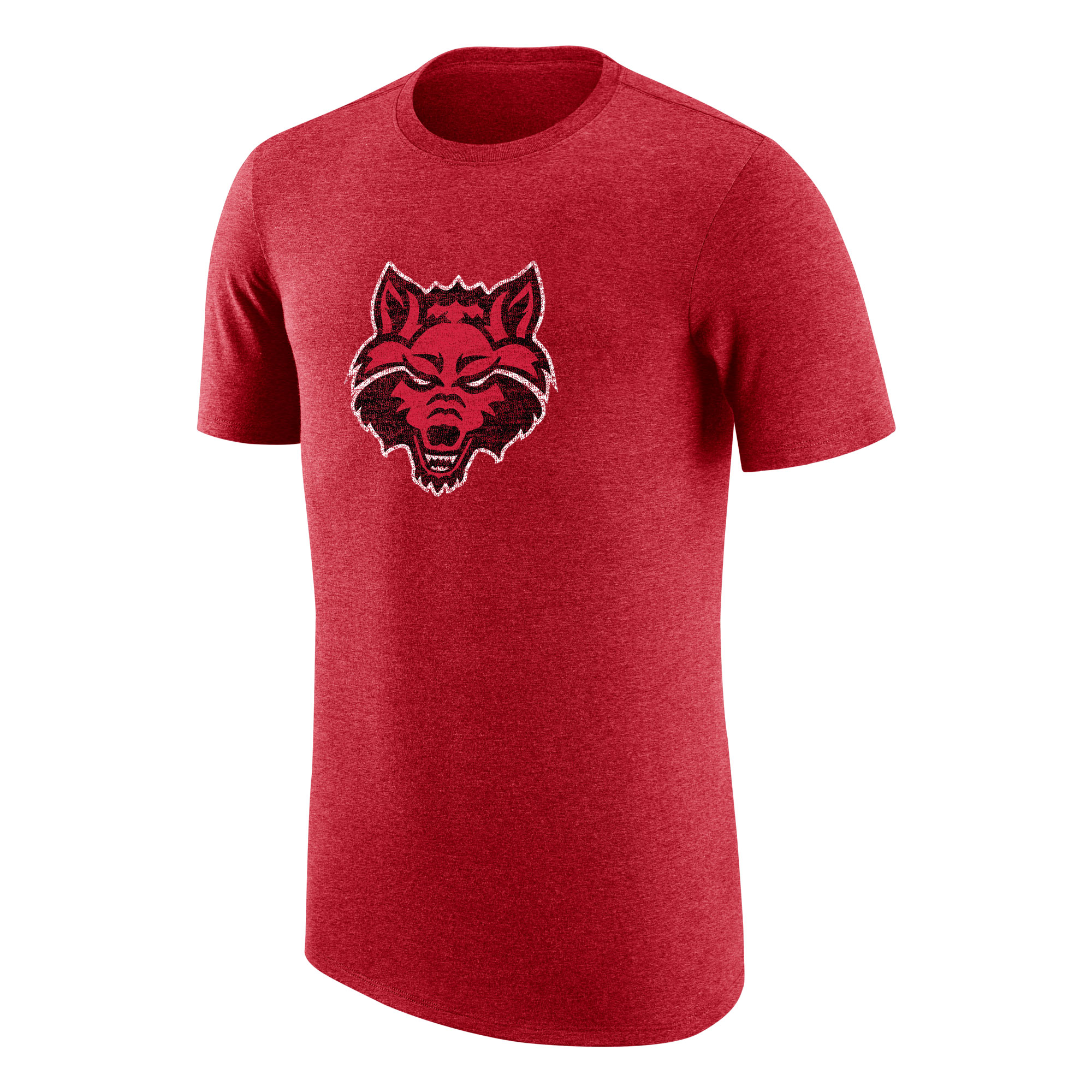 Red Wolves Distressed Logo TriBlend SS Tee