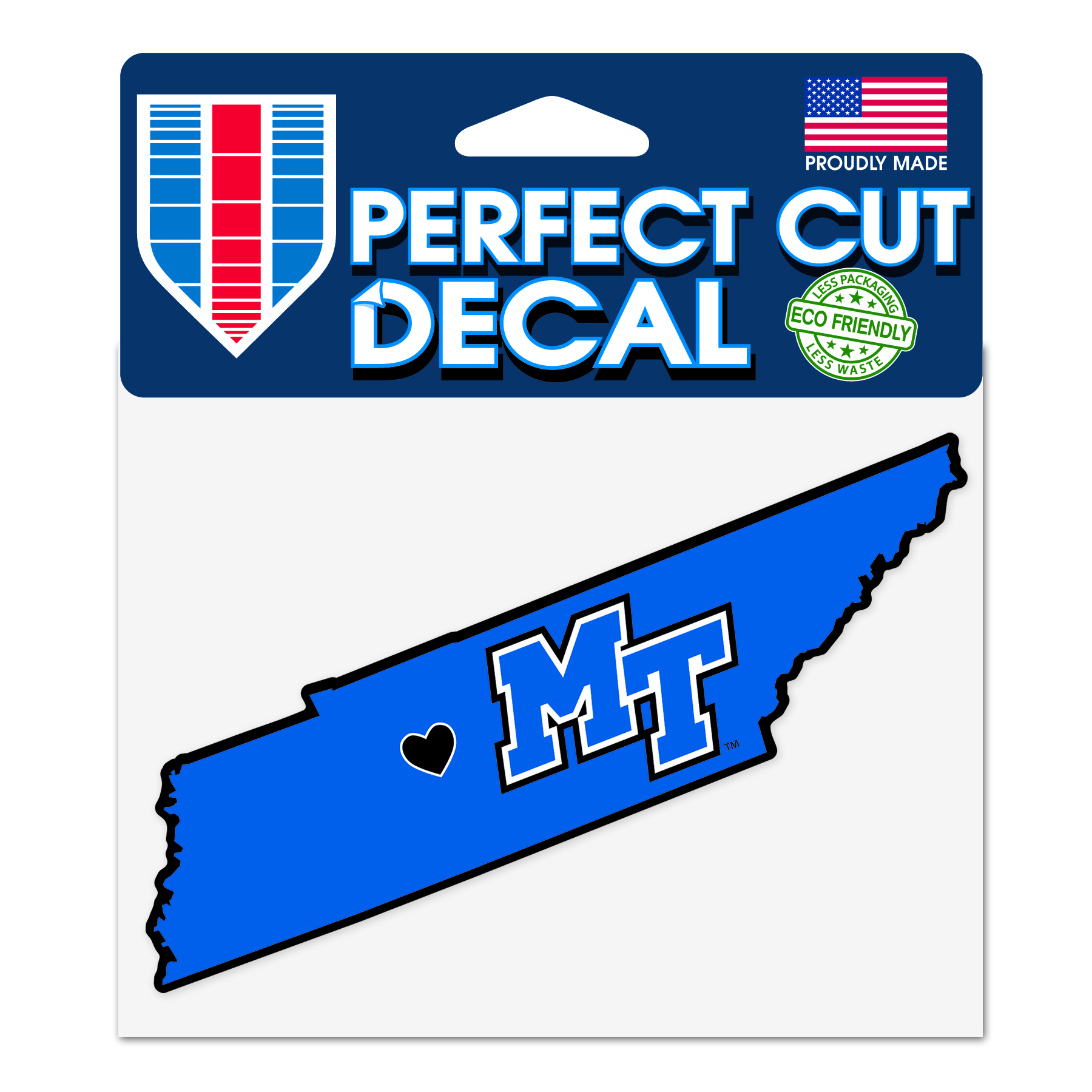 MT Heart State of Tennessee Decal