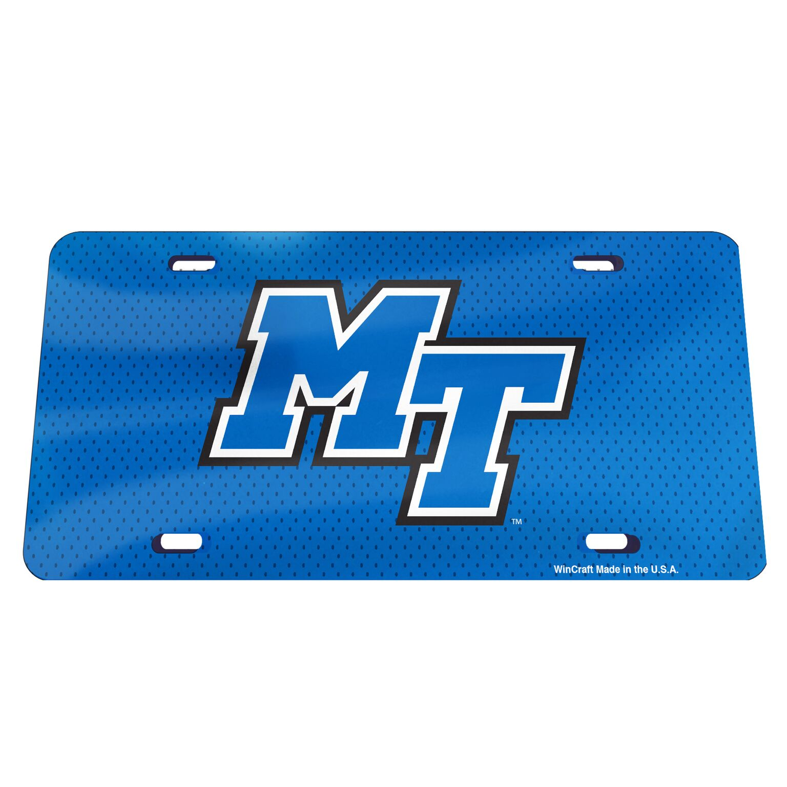 MT Logo Mesh Background License Plate