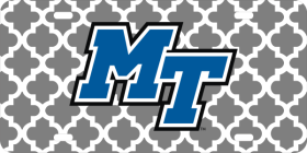 MT Logo Moroccan Pattern License Plate