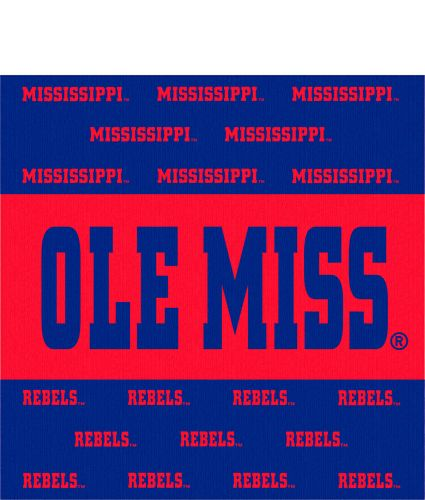 Ole Miss Stripe Beverage Napkins 16/pkg