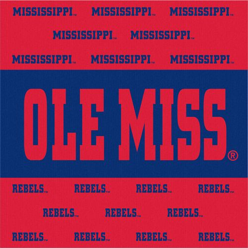 Ole Miss Stripe Luncheon Napkins