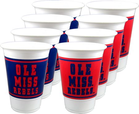 Ole Miss Rebels 16oz Cups 8/pkg