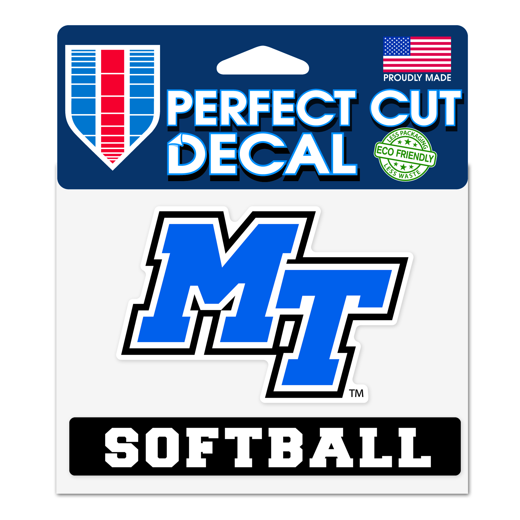 MT Softball Slogan Decal