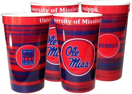 Plastic Souvenir Cups 22oz 4/pkg