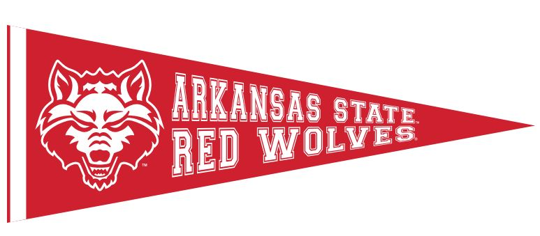 Arkansas State Red Wolves Red Felt Pennant