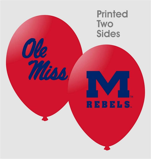 Ole Miss 11oz Latex Balloons 10/pkg