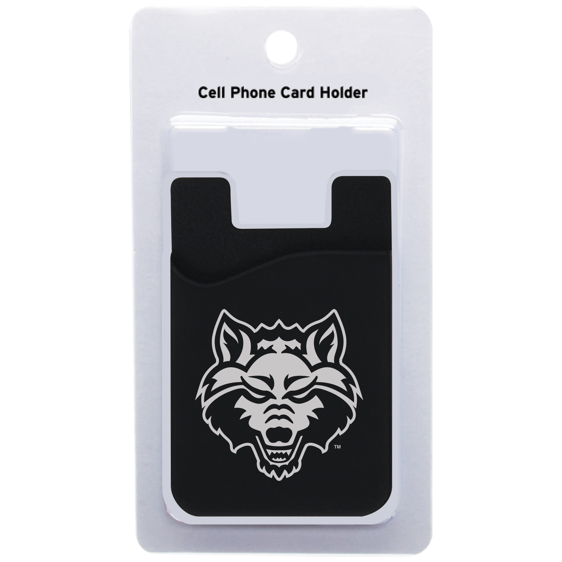 Red Wolves Cell Phone Pocket Card Holder