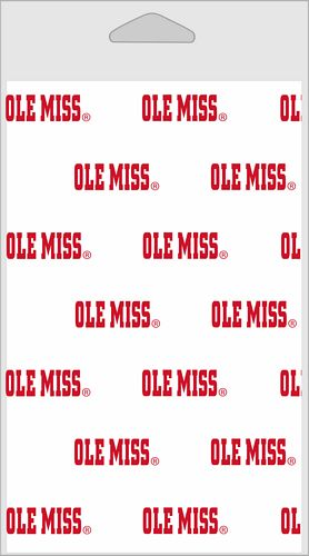 Ole Miss Printed Tissue 5/pkg