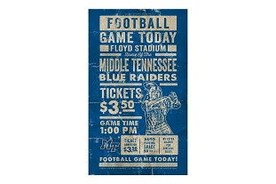 MTSU Gameday Wood Sign