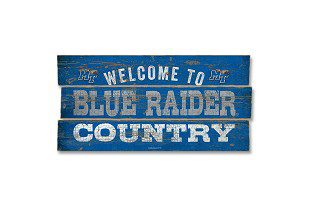 Blue Raider Country Plank Wood Sign