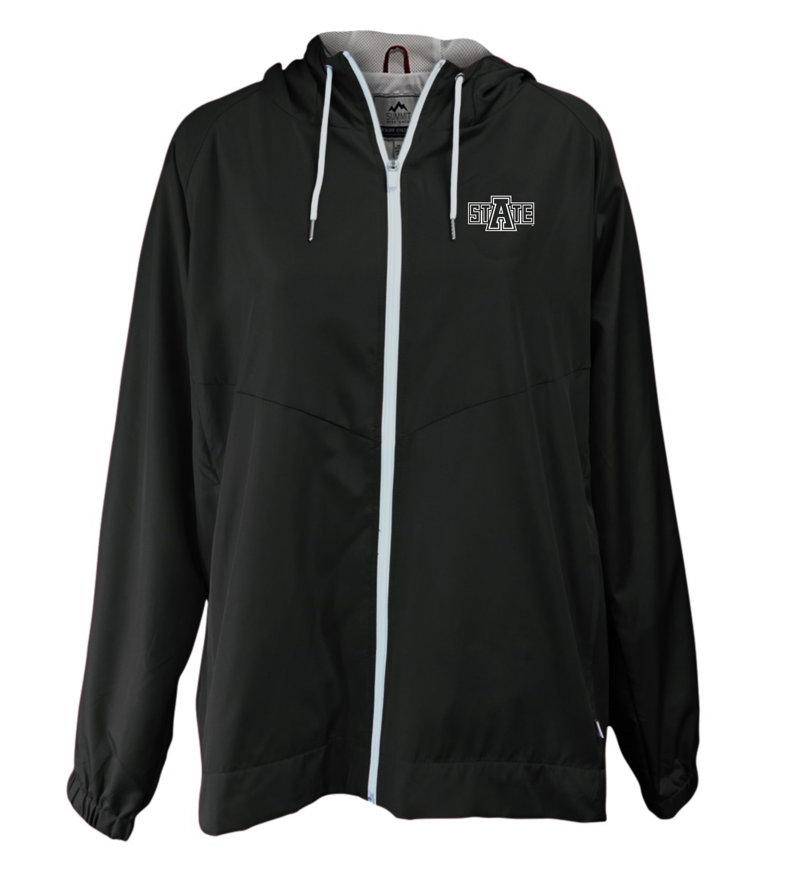 Arkansas State Full Zip Hooded Rain Jacket