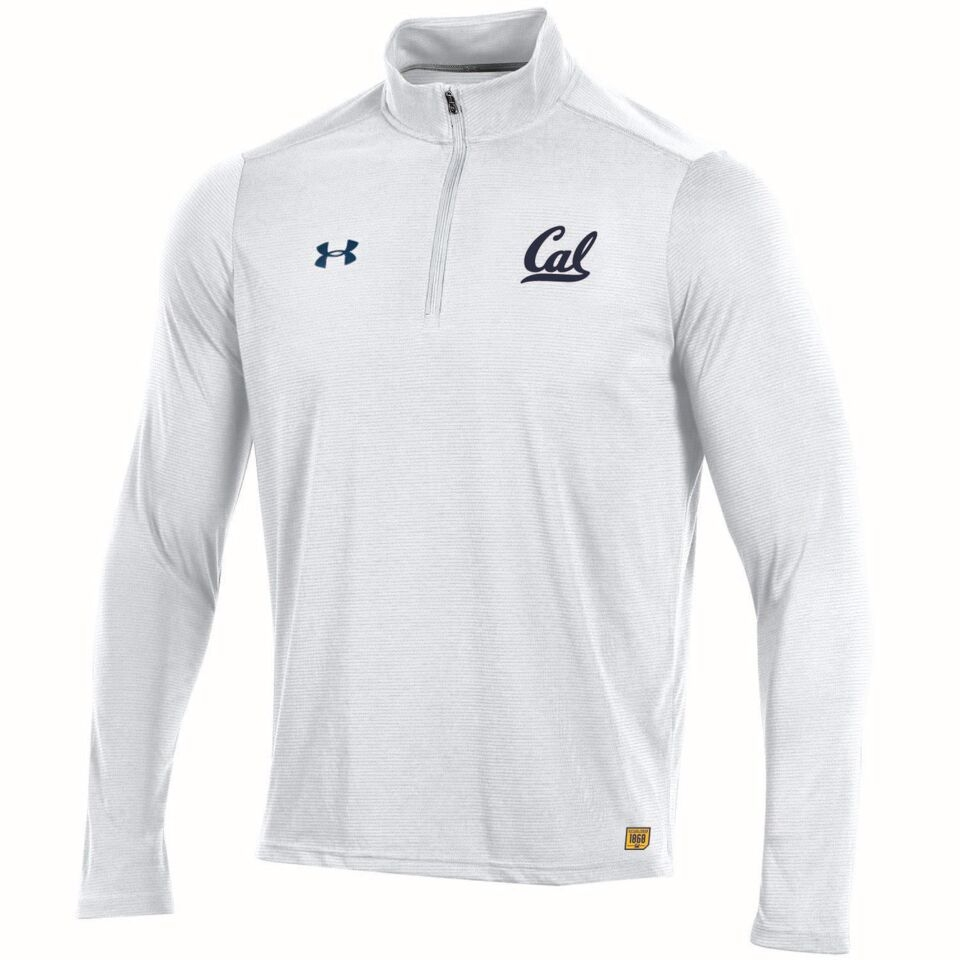 MD25-University of California Berkeley Under Armour Sideline Men's Microthread 1/4 Zip