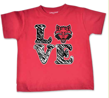 Red Wolves Toddler Short Sleeve T-Shirt