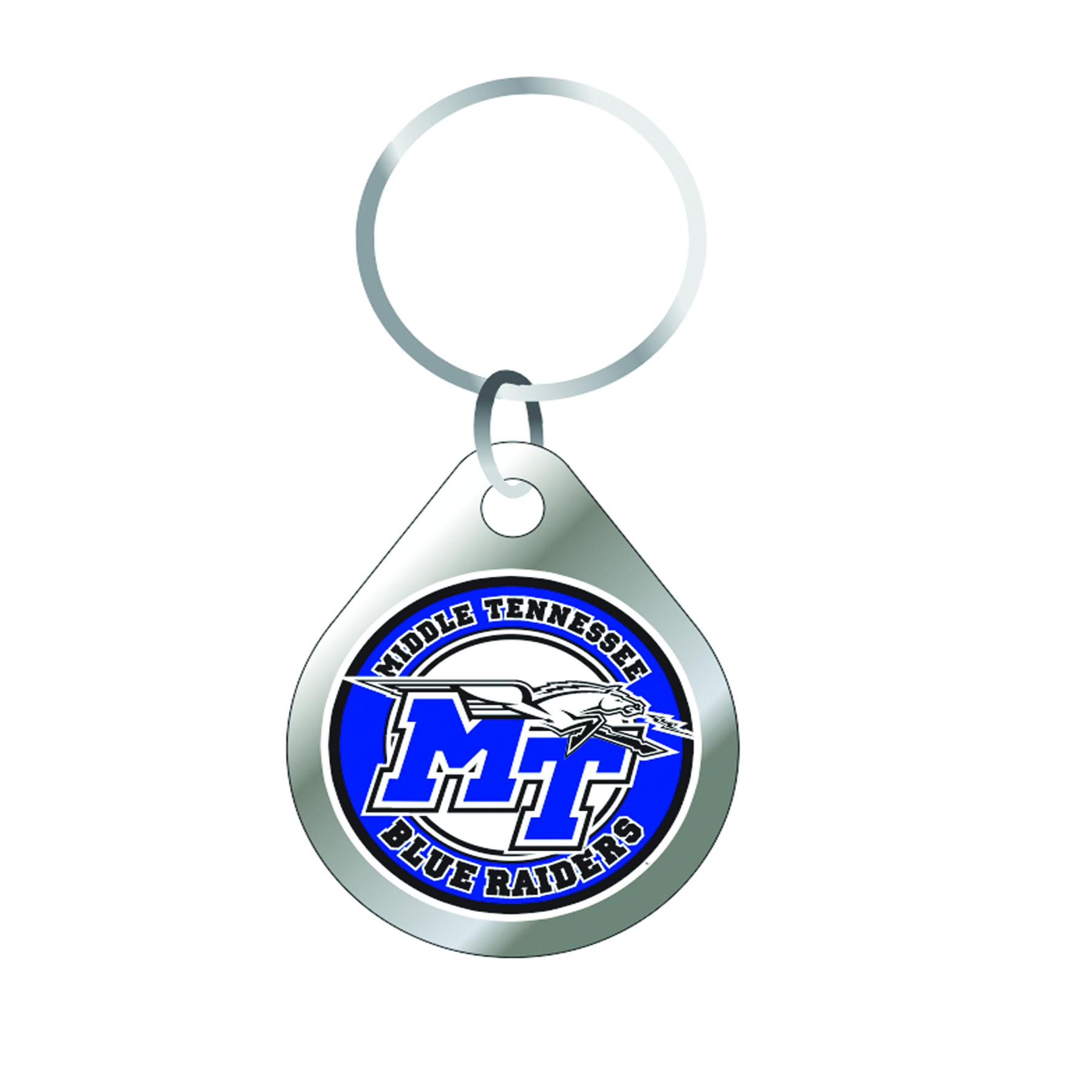 MT Blue Raiders Keychain