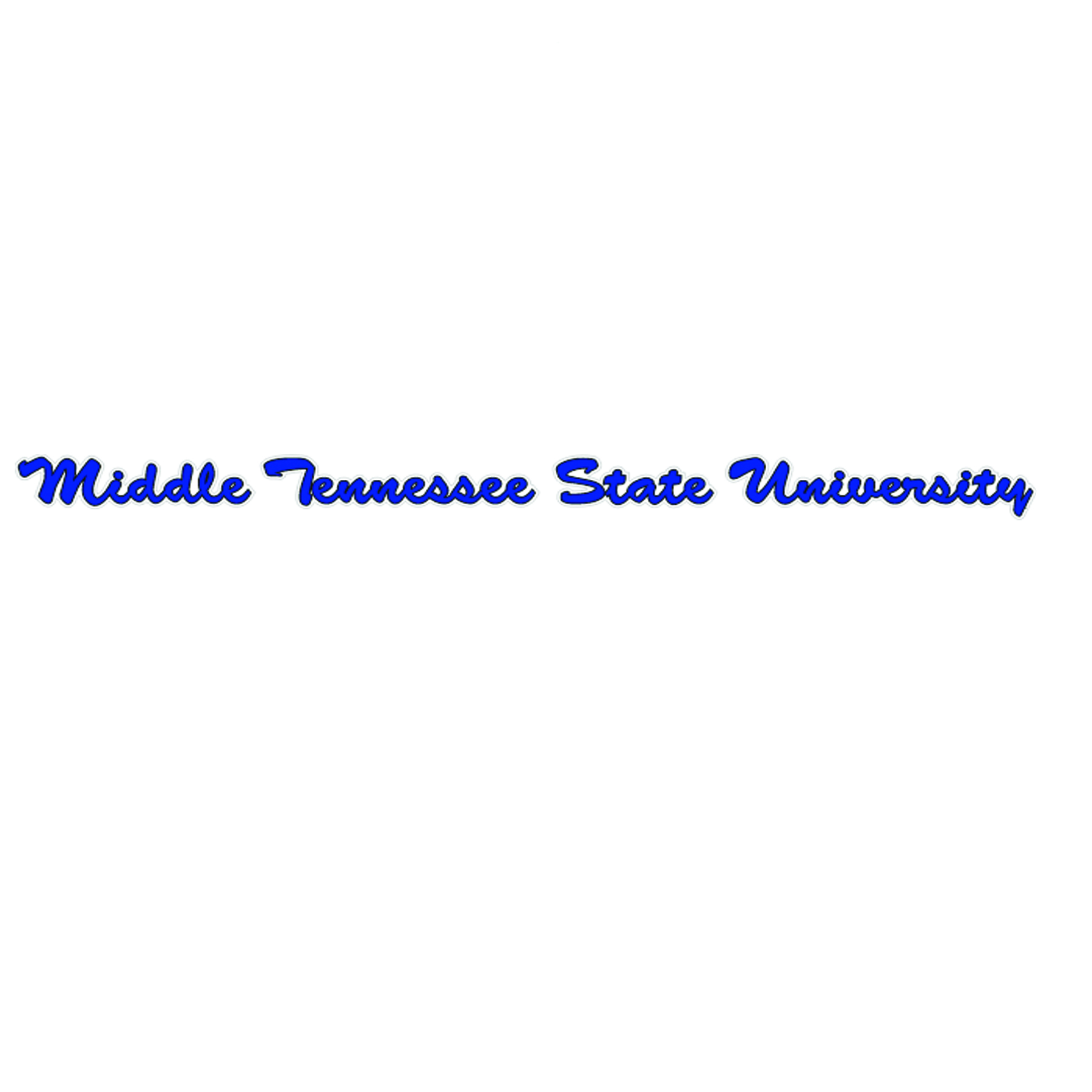 Middle Tennessee Cursive Strip Decal