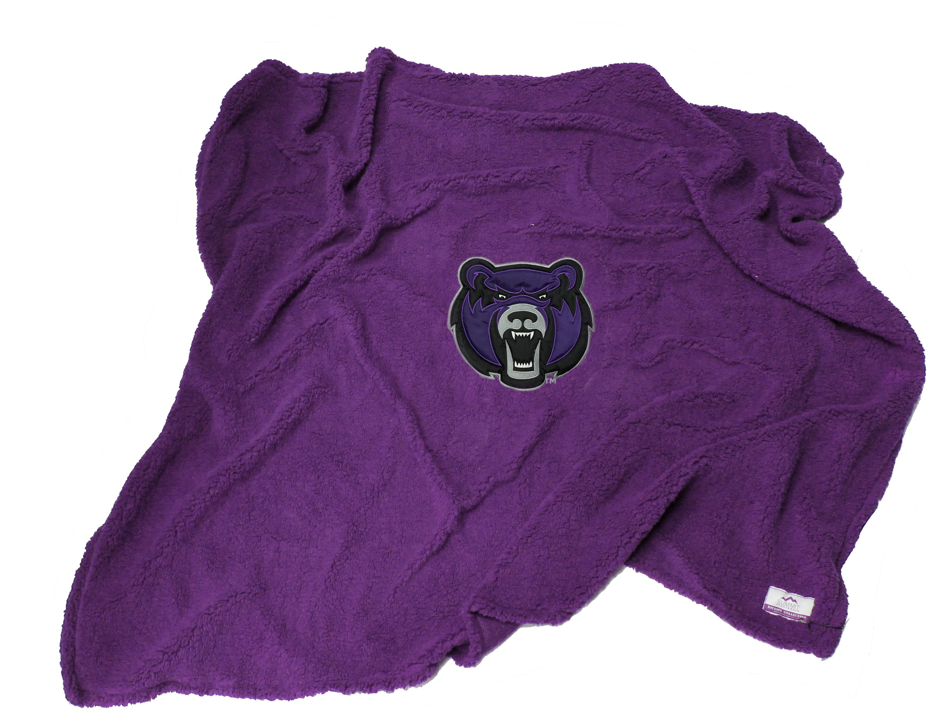 Bear Head Sherpa Blanket