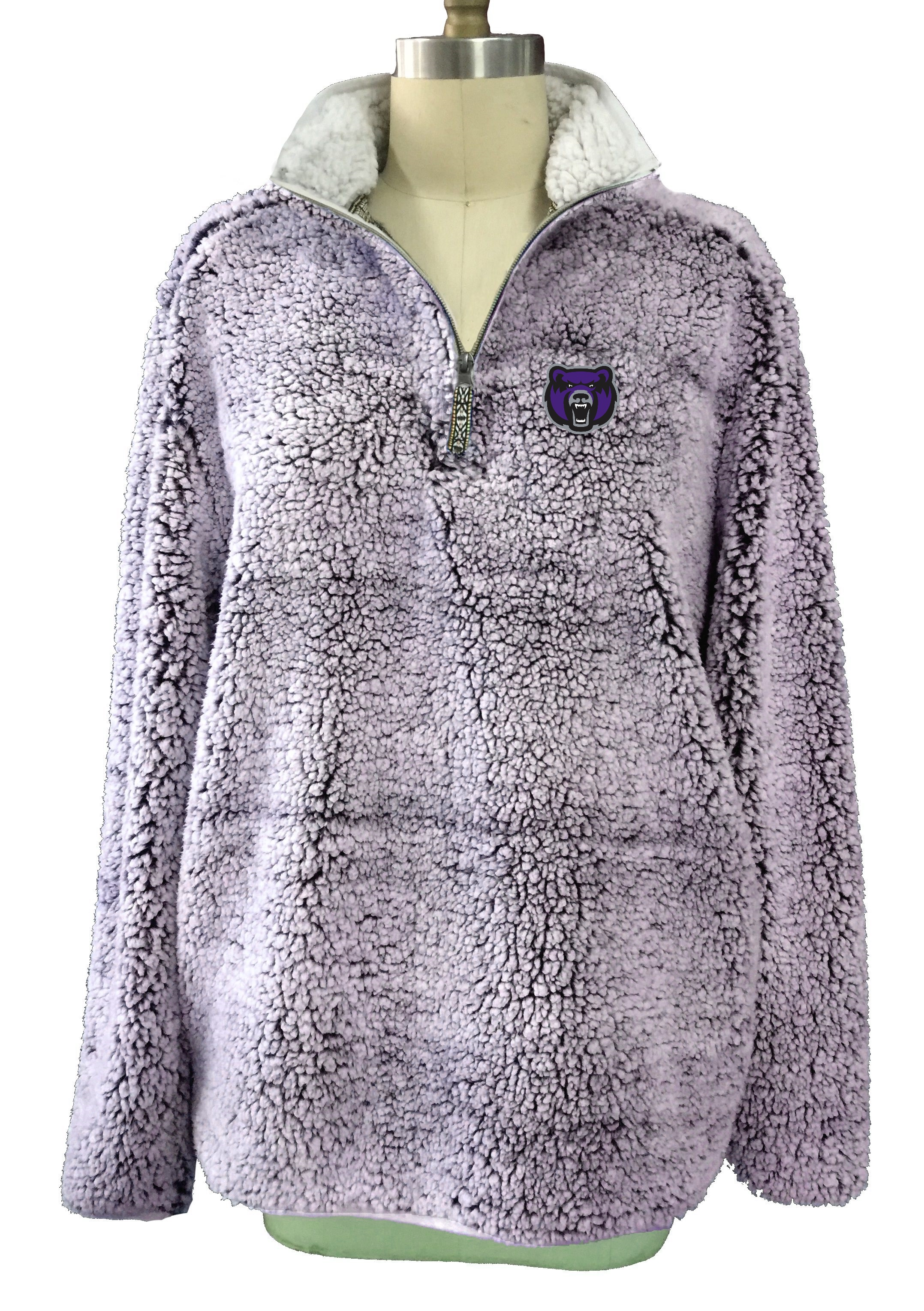 1/4 Zip Heathered Sherpa Pullover