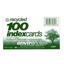 Roaring Springs Recycled Index Cards
