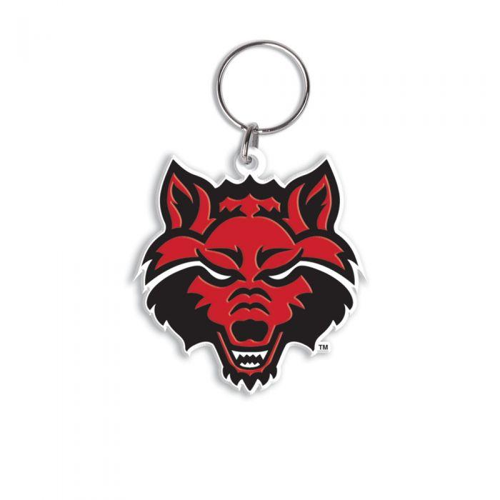 Red Wolves Flex Key Ring