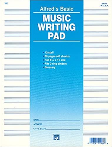 Music Writing Pad