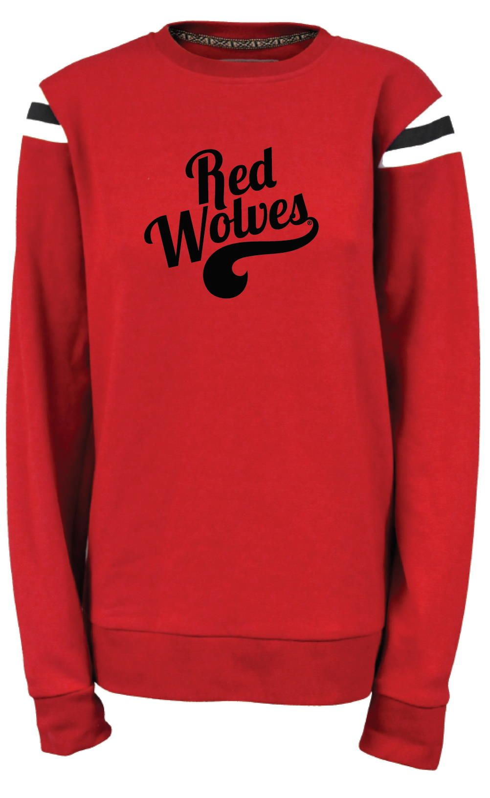 Red Wolves Fleece Shoulder Crew