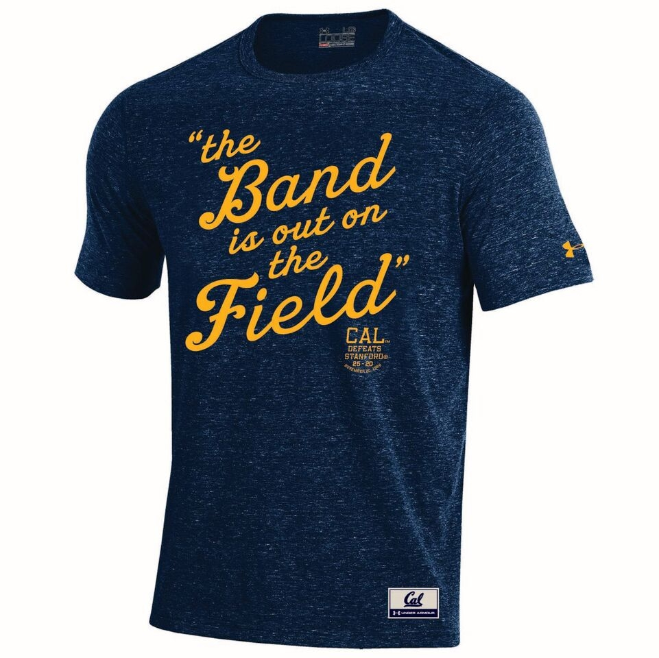 University of California Berkeley Under Armour  Mens Iconic Charged Cotton Triblend SS Crew