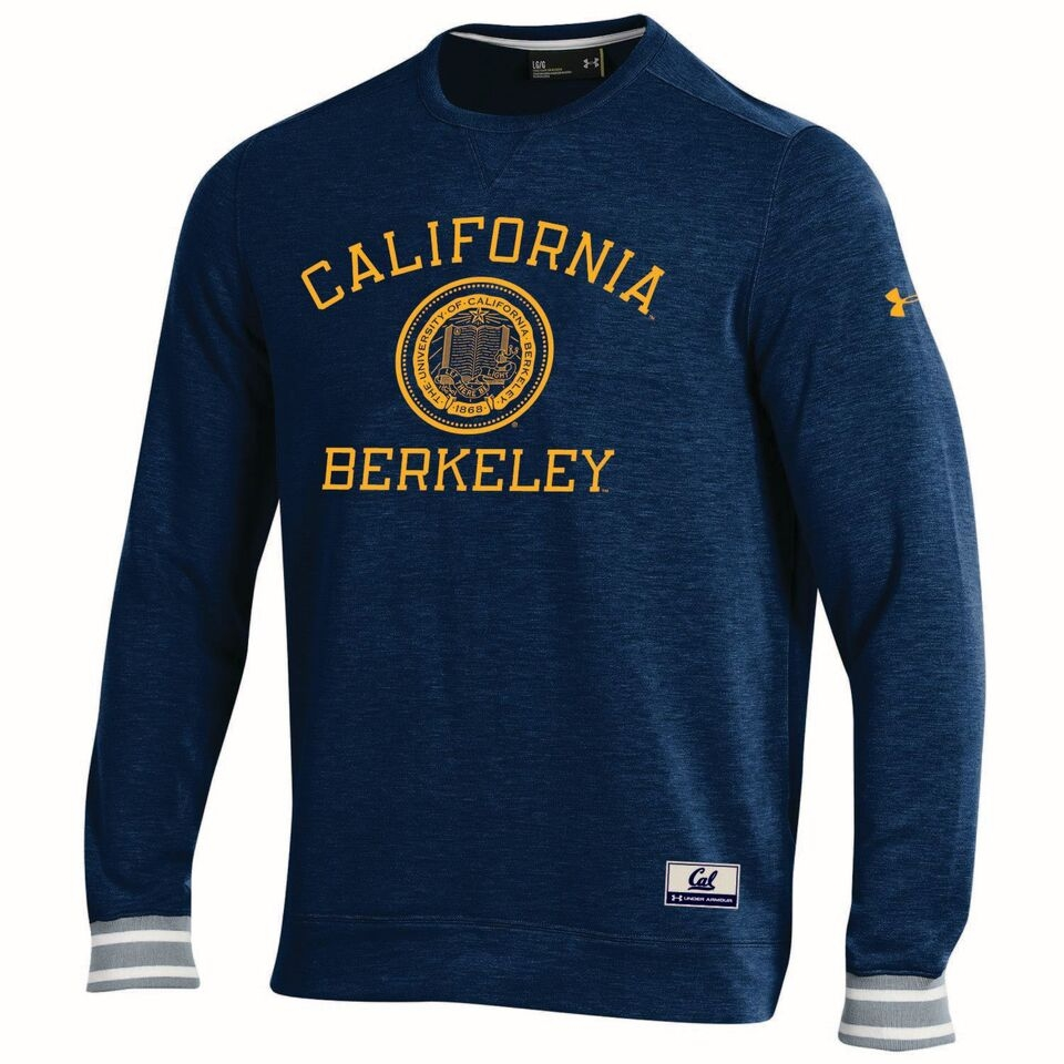 University of California Berkeley Under Armour  Mens Iconic Wooly Crew − CAL BEARS