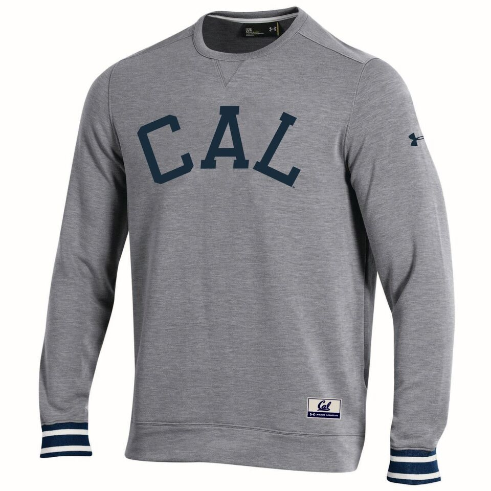 University of California Berkeley Under Armour  Mens Iconic Wooly Crew − Cal Berkely