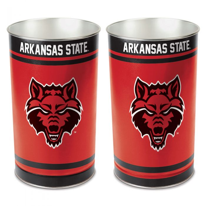 Arkansas State Red Wolves Waste Basket