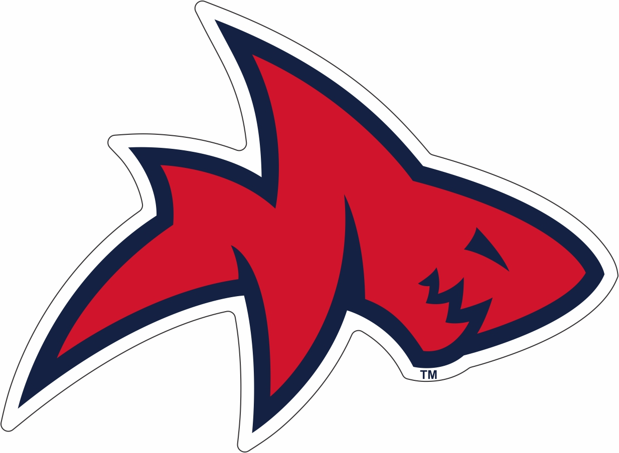 Red and Navy Landshark Decal