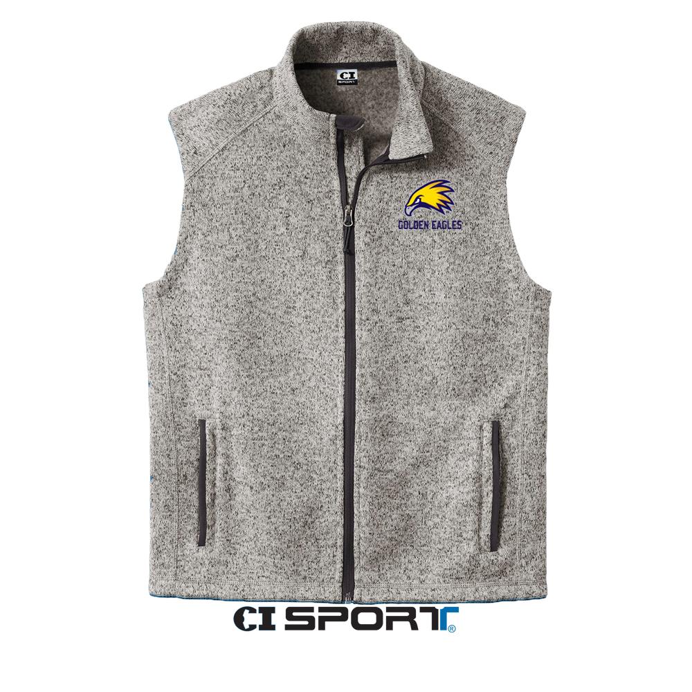 Golden Eagles Mens Sweater Fleece Vest