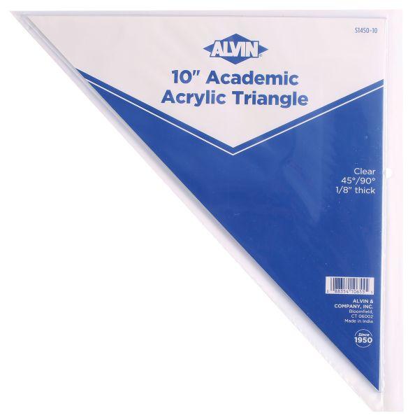 "10"" Plastic Triangle 45/90"