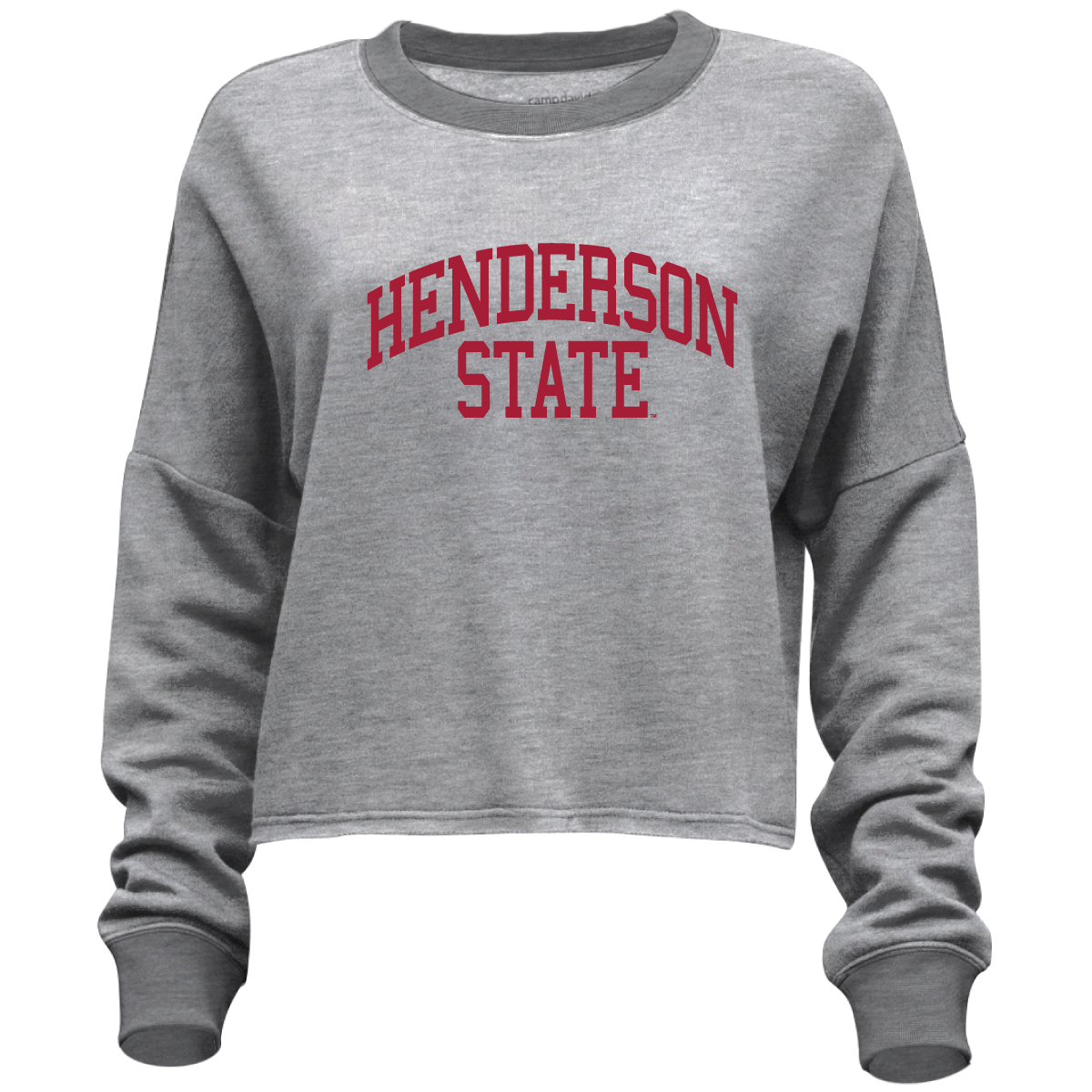 Henderson State Flash Dance Cropped Long Sleeve T-Shirt