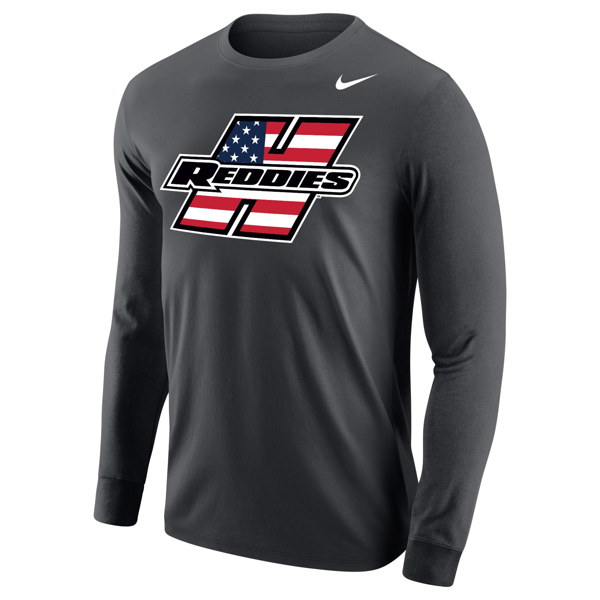 Henderson Reddies American Flag Men's Core Long Sleeve T-Shirt