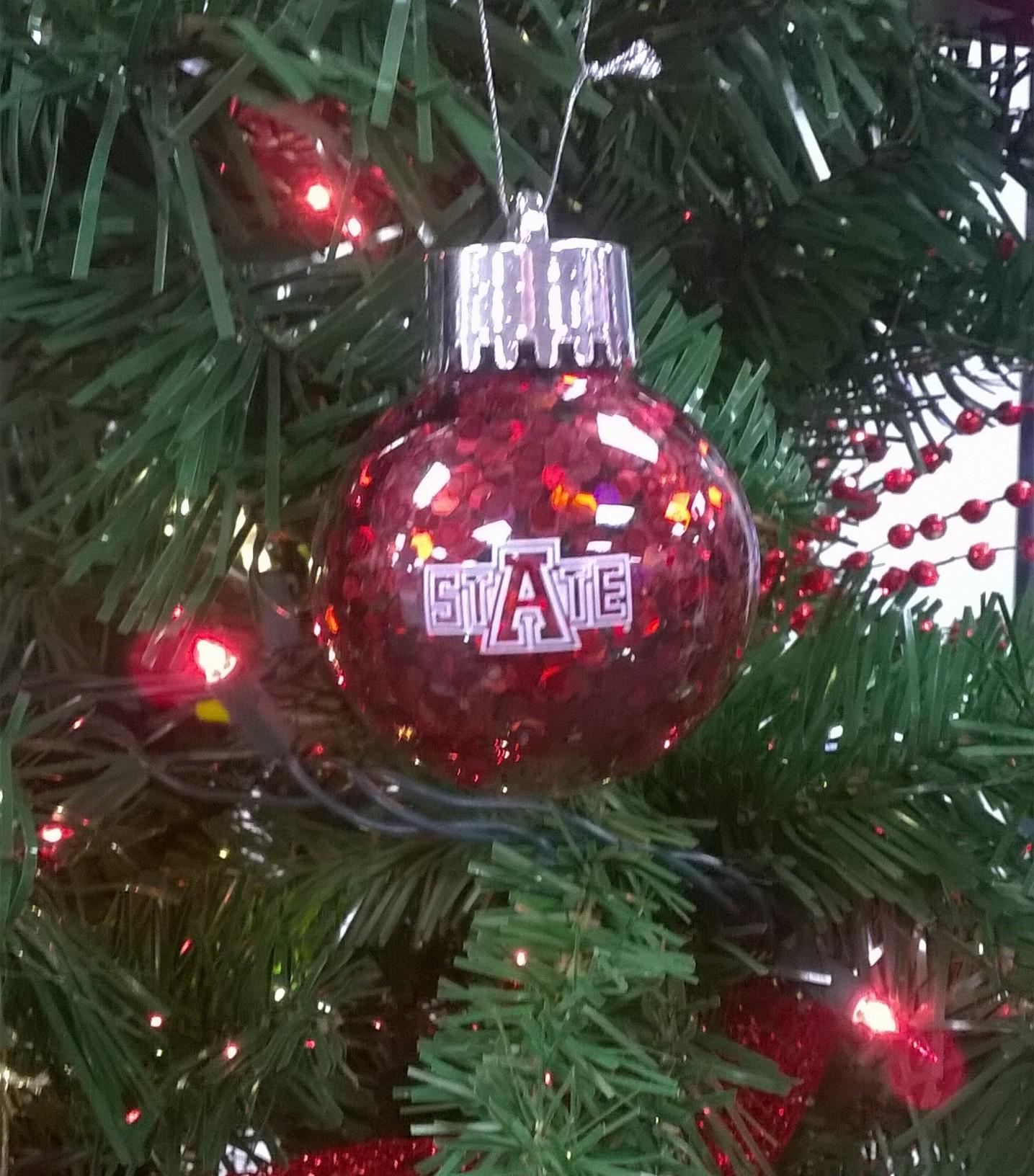 """Arkansas State 2.5"""" Confetti Ornament"""