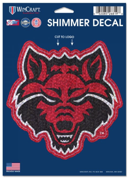Red Wolves Shimmer Decal