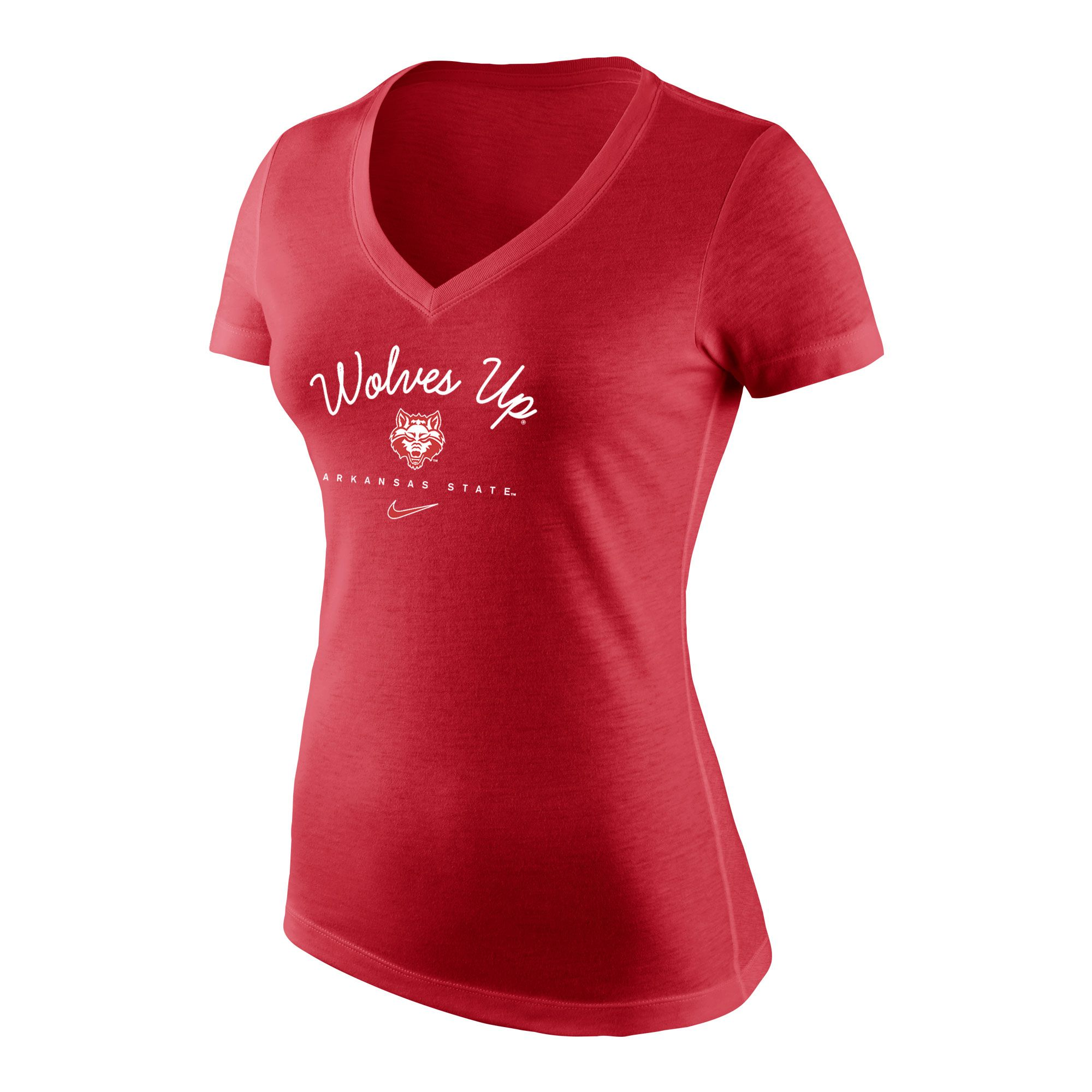 Red Wolves Tri-Blend Mid V Tee