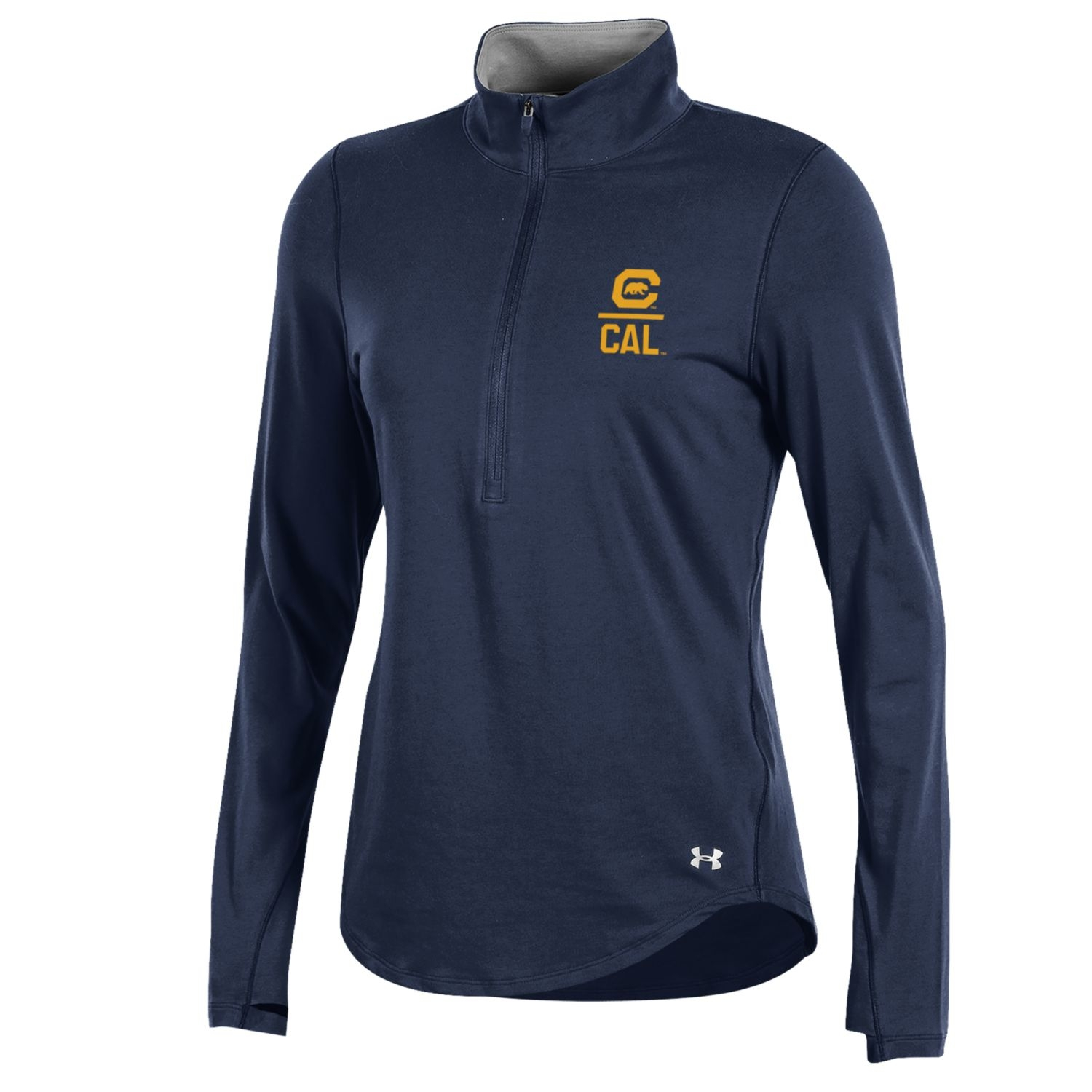 Cal Bears Under Armour Women's 60 40 Charged Cotton 1/2 Zip
