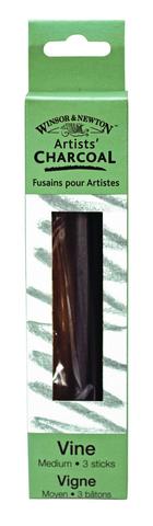 Vine Charcoal Sticks Medium 3-Count