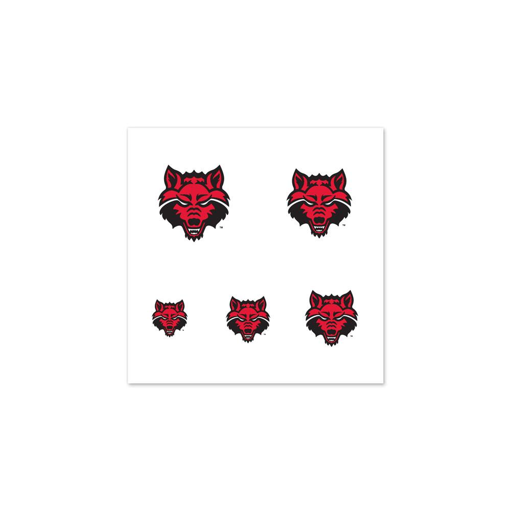 Arkansas State Red Wolves Fingernail Tattoos