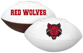 Arkansas State Red Wolves Autograph Football