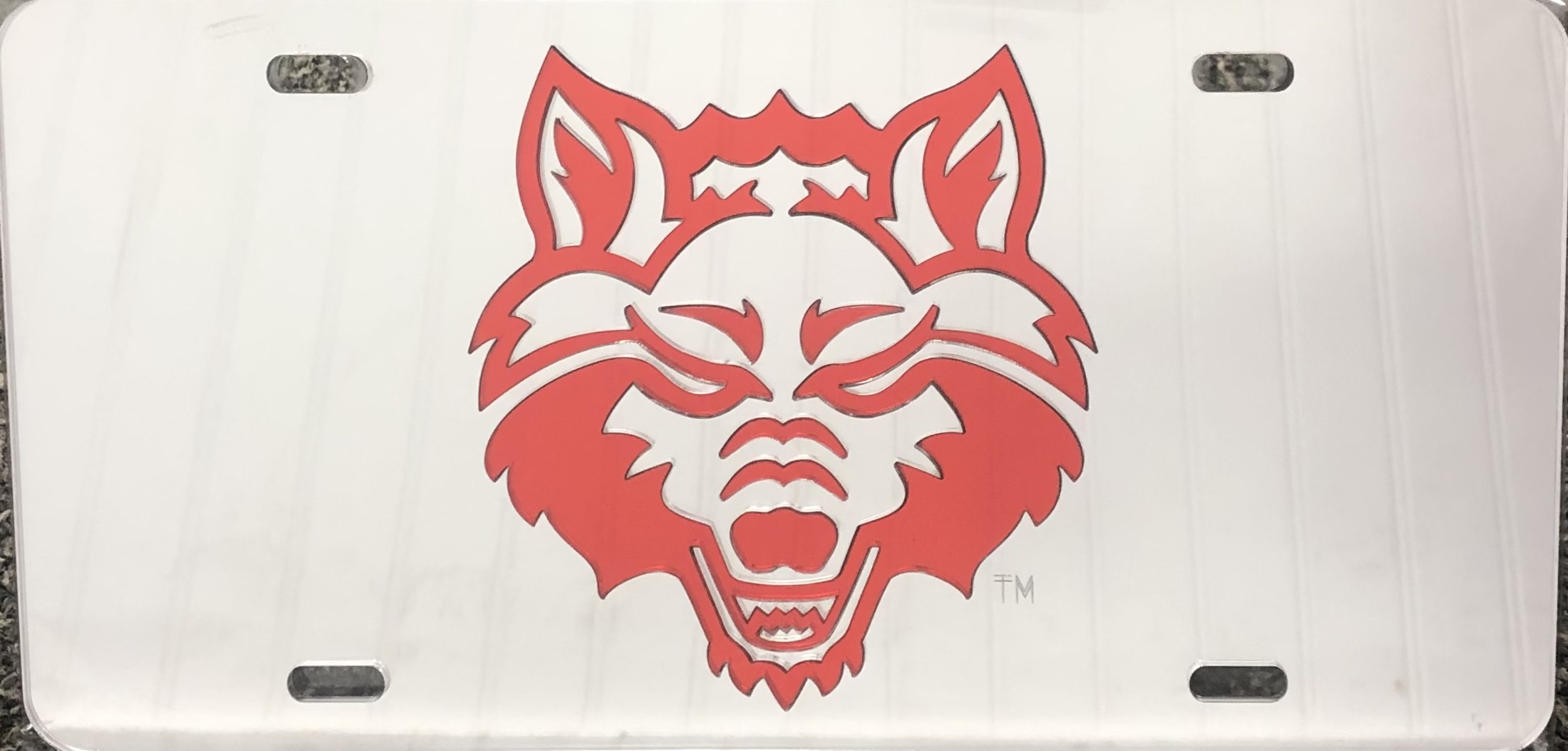 Red Wolves Red Mirrored Plate