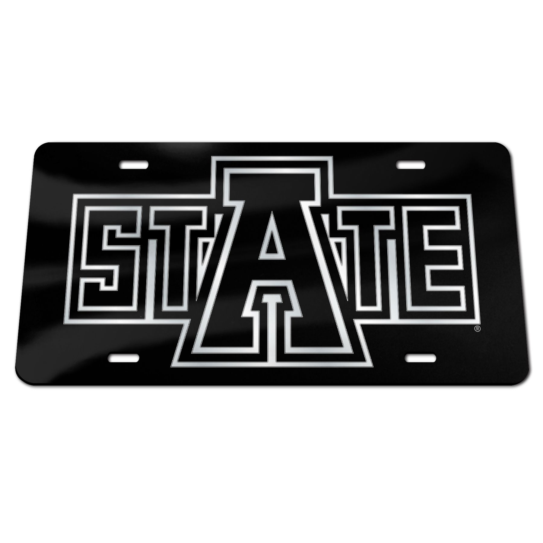 Arkansas State Mirrored Plate