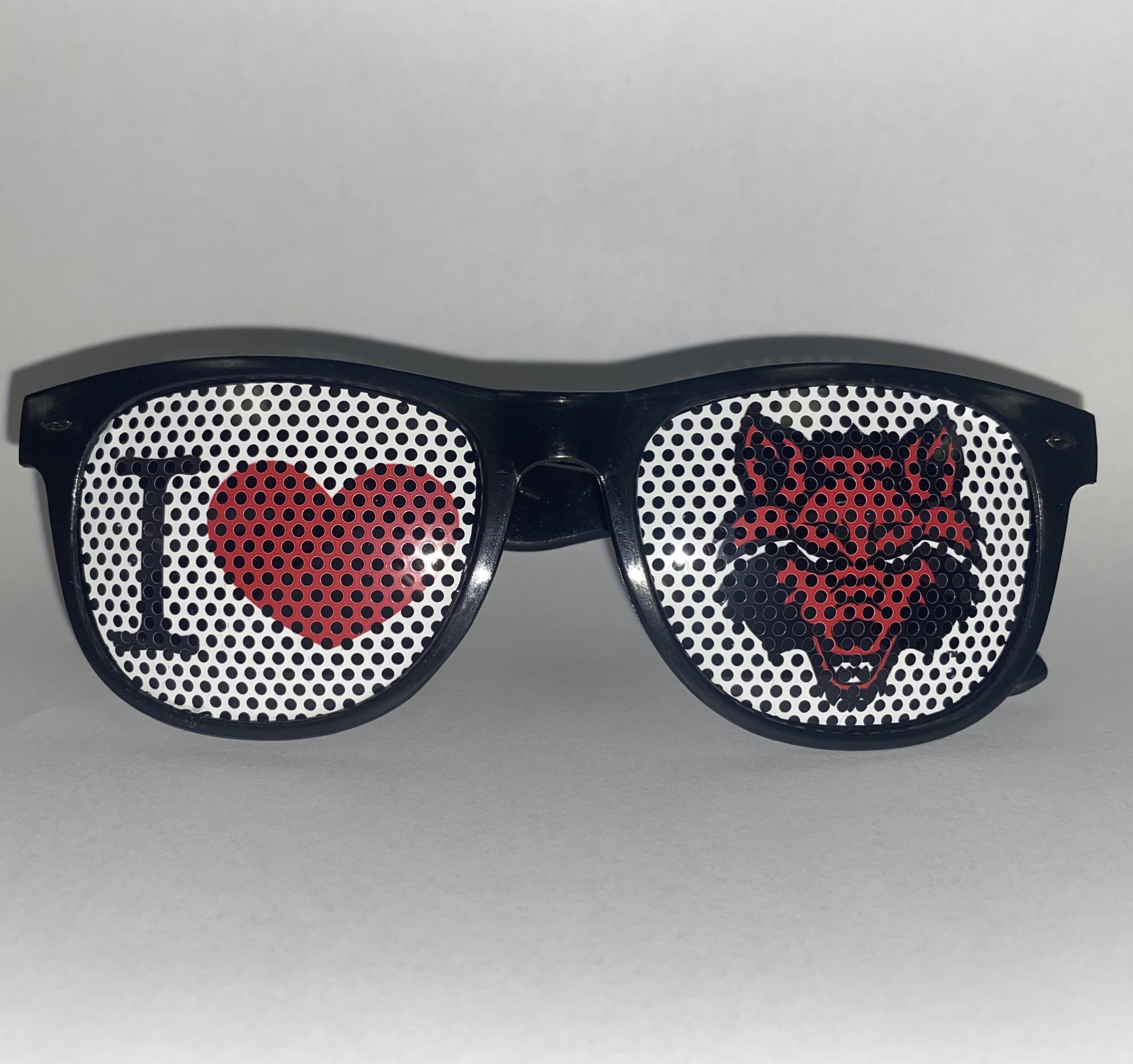 I Heart Red Wolves Sun Glasses