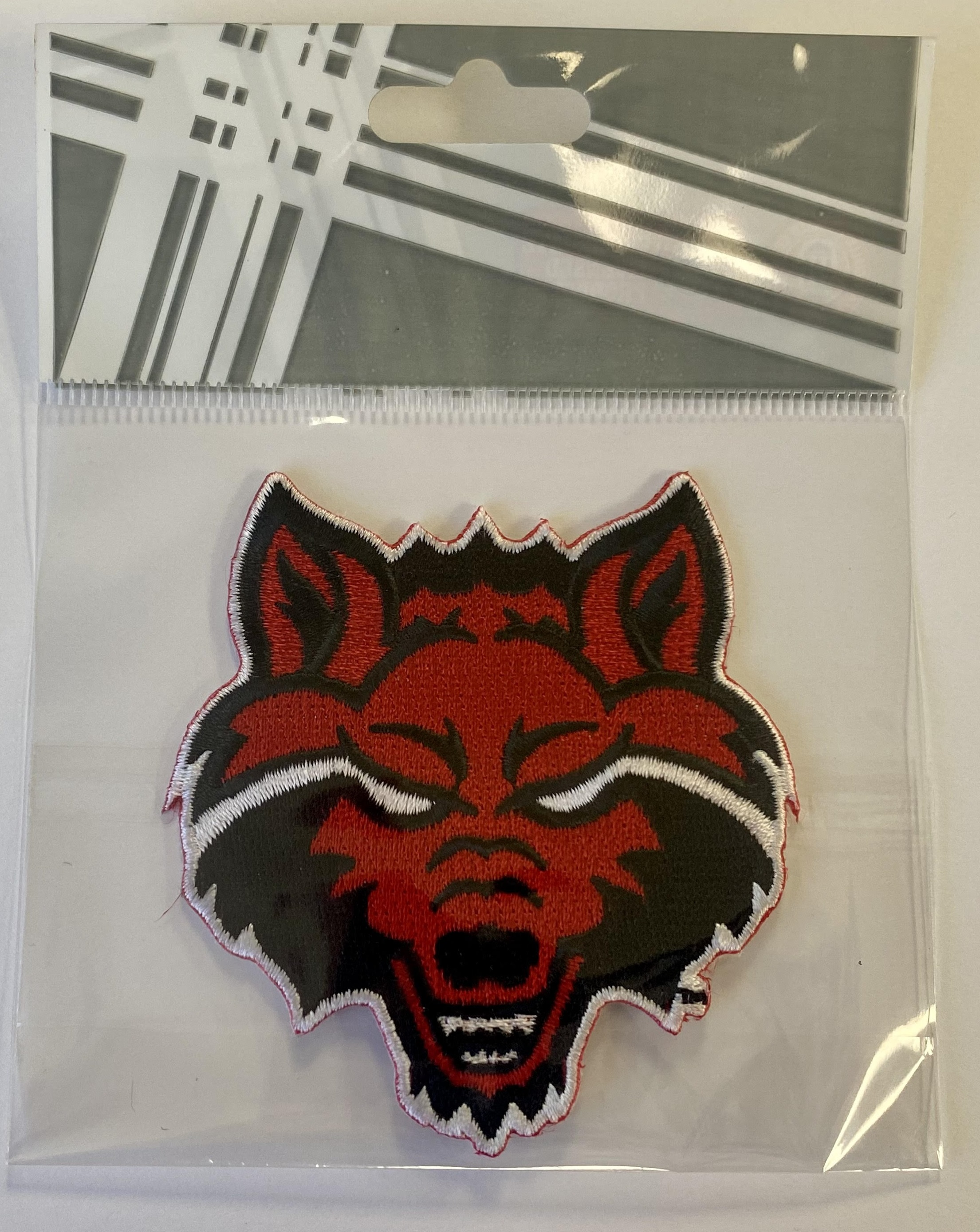"""Red Wolf 3"""" Embroidered Patch"""