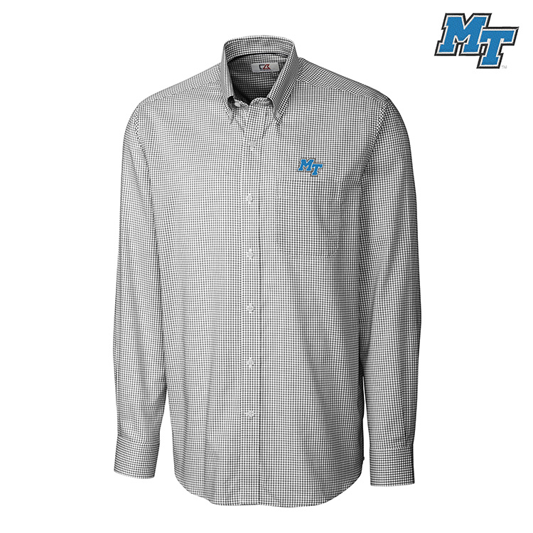 MT Logo Long Sleeve Tattersall Button Down